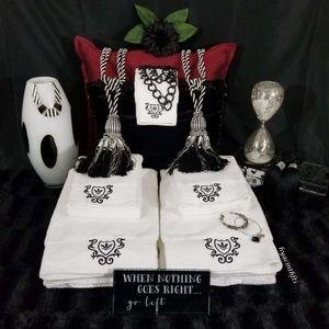 100% Turkish Cotton Towels Black & White
